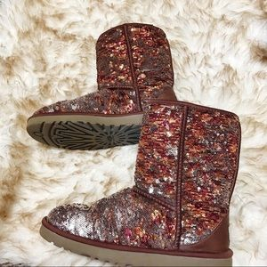 Sequin ugg boots size 8
